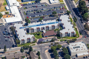 Aerial photo of solar panels installed by ReGreen at Gold & Kest